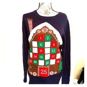 Ladies Christmas advent calendar sweater size M